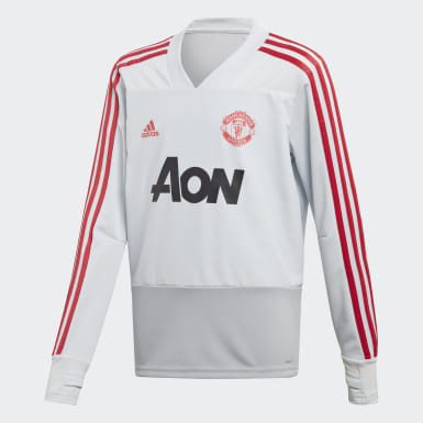 Kids Football Grey Manchester United Training Top