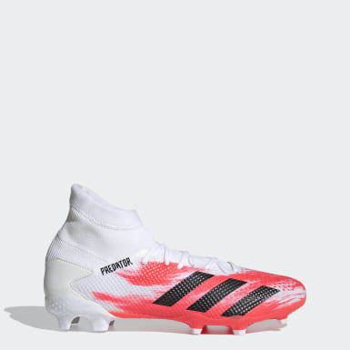 Football White Predator 20.3 Firm Ground Boots