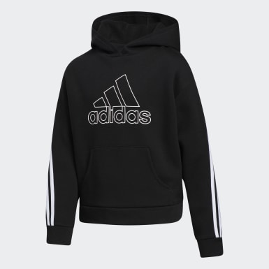 Children Training Black Stripe Hoodie