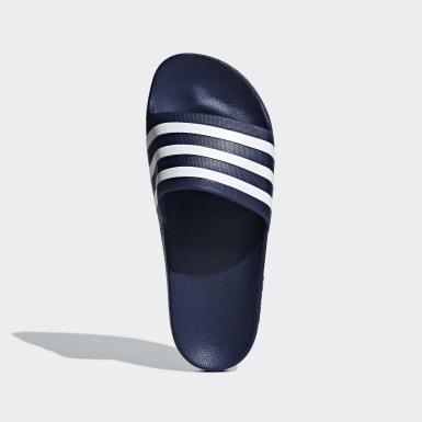 Zimní Sporty modrá Pantofle Adilette Aqua