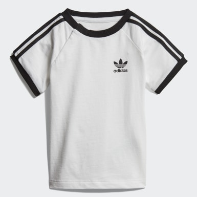 Boys Originals White 3-Stripes Tee