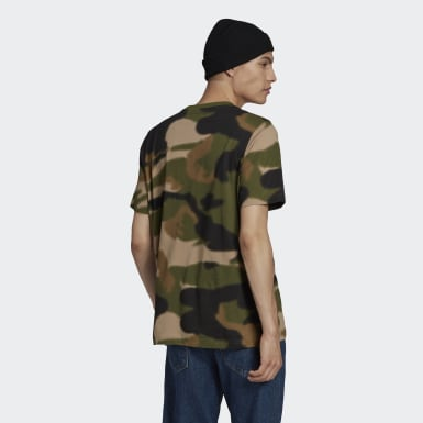 Men's Originals Green Camo Tongue Label Tee