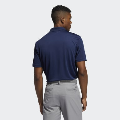 Heren Golf blauw Performance Primegreen Poloshirt