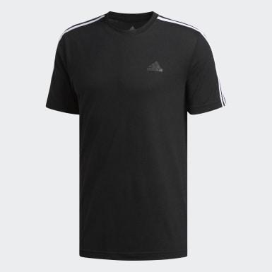 T-shirt3-Stripes Trail noir Hommes Entraînement
