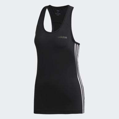 ผู้หญิง เทรนนิง สีดำ เสื้อกล้าม Design 2 Move 3-Stripes