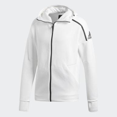Chaqueta con capucha adidas Z.N.E. Fast Release Blanco Hombre Athletics
