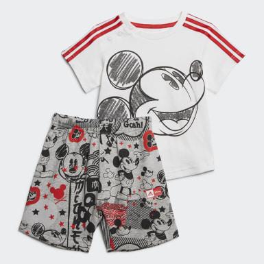 เด็กผู้ชาย เทรนนิง สีขาว ชุด Mickey Mouse สำหรับหน้าร้อน