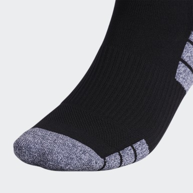 Training Black 3-Stripes Hoop Socks