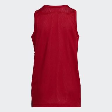 Çocuklar Basketbol Kırmızı 3G Speed Çift Taraflı Forma