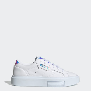 Dames Originals Wit adidas Sleek Super Schoenen