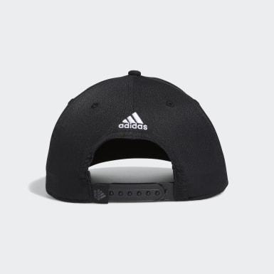 Men Golf Black Golf 3-Stripes Tour Hat