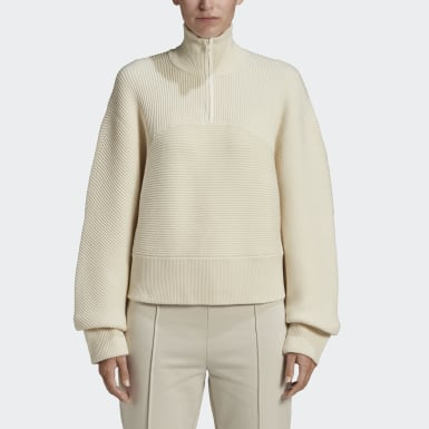 Y-3 CH3 High Neck Sweater Blanc Femmes Y-3