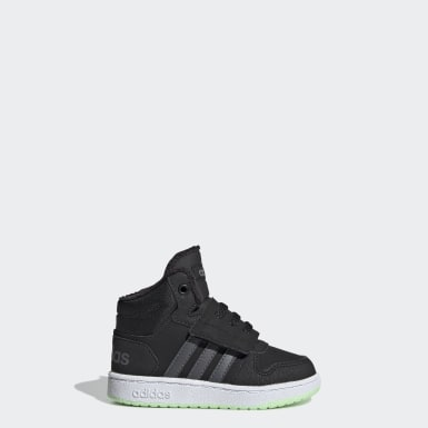 Kids Basketball Black Hoops 2.0 Mid Shoes