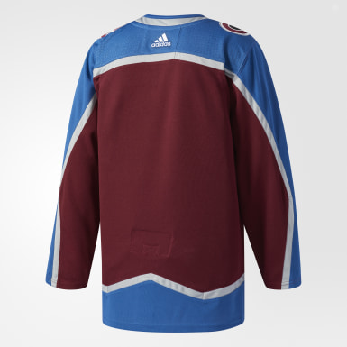 Maillot Avalanche Domicile Authentique Pro Burgundy Hockey
