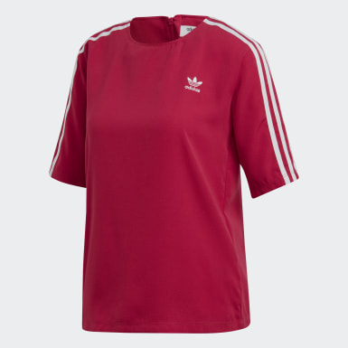 Women Originals Pink 3-Stripes Tee