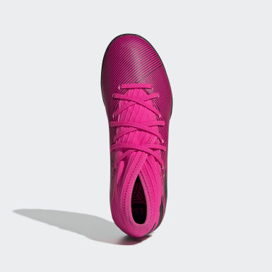 Børn Fodbold Pink Nemeziz 19.3 Turf støvler