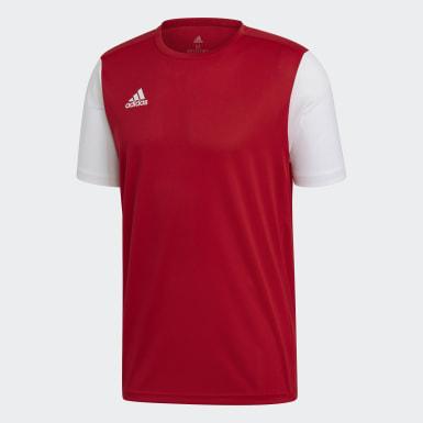 ผู้ชาย ฟุตบอล สีแดง เสื้อฟุตบอล Estro 19