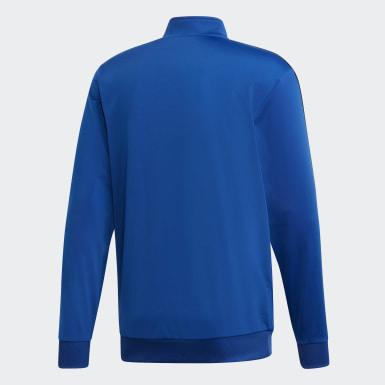 Track jacket Essentials 3-Stripes Tricot Blu Uomo Training
