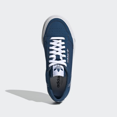 Youth 8-16 Years Originals Blue Continental Vulc Shoes