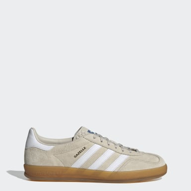 Dames Originals Beige Gazelle Indoor Schoenen