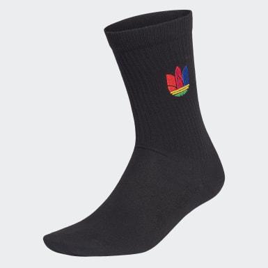 Originals 3D Trefoil Cuff Crew Socken Schwarz