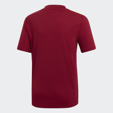 Youth Soccer Burgundy Striped 19 Jersey