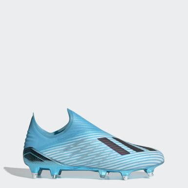 Zapatos de Fútbol X 19+ Terreno Suave Turquesa Hombre Fútbol