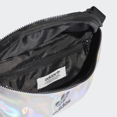 Women Originals Silver Metallic Waist Bag