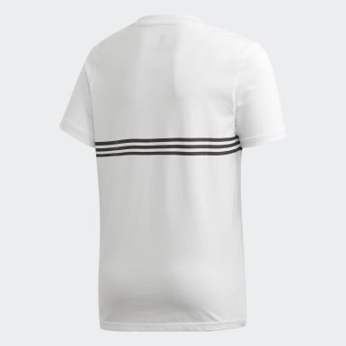 T-shirt Outline Blanc Garçons Originals