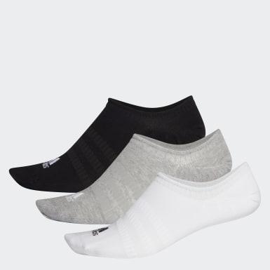 Løb Grå No-show sokker, 3 par