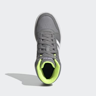 Children Essentials Grey Hoops 2.0 Mid Shoes