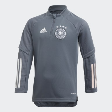 Kids Football Grey Germany Training Top