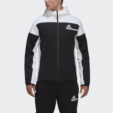 Herr Athletics Svart adidas Z.N.E. Full-Zip Hoodie