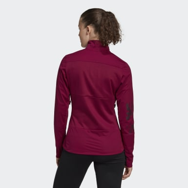 Women TERREX Burgundy Terrex Agravic XC Soft Shell Jacket