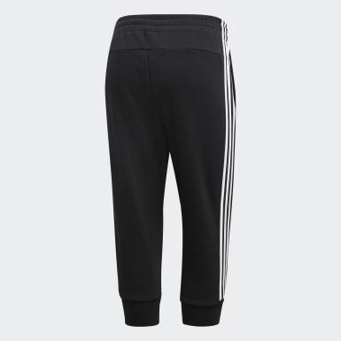 Women Essentials Black Essentials 3-Stripes 3/4 Pants