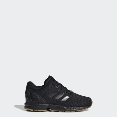 Children Originals Black ZX Flux Shoes