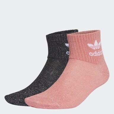 Frauen Originals Full-Glitter Mid-Ankle Socken, 2 Paar Schwarz