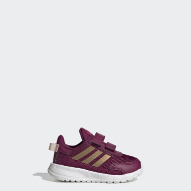 Infants Running Burgundy Tensor Shoes