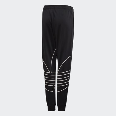 Youth 8-16 Years Originals Black Large Trefoil Tracksuit Bottoms