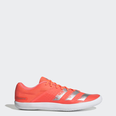 Men Track & Field Orange Throwstar Shoes