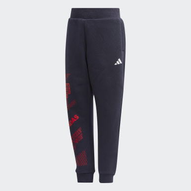 Kids 4-8 Years Training Blue Fleece Joggers