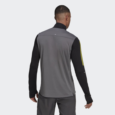 Heren Wintersport grijs Own the Run Running Sweatshirt