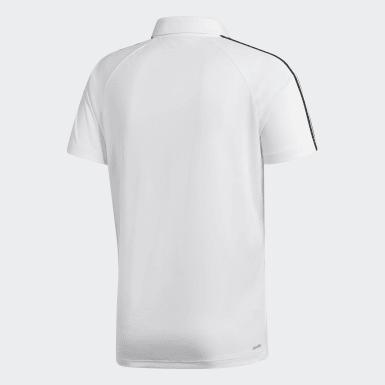 Polo Design To Move 3 Stripes Blanco Hombre Training