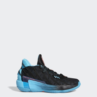 Kids Basketball Black Dame 7 Visionary Shoes