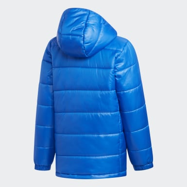 Børn Træning Blå Padded jakke