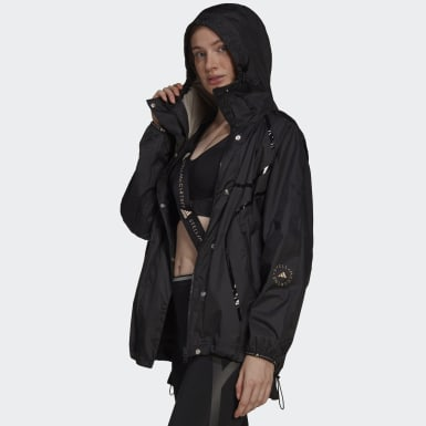 Women adidas by Stella McCartney Black adidas by Stella McCartney True Pace Run Jacket WIND.RDY
