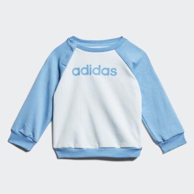 Linear Fleece joggedress Blå