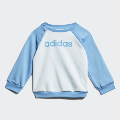 Kinderen Athletics Blauw Linear Fleece Joggingpak