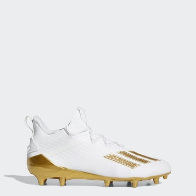 Men's Football White Adizero Cleats