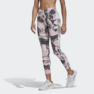Ženy Athletics šedá Legíny adidas Essentials Camouflage 3-Stripes 7/8